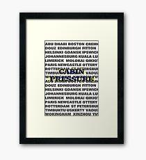 Cabin Pressure Framed Print