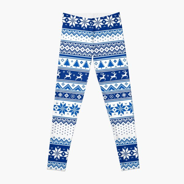 Nordic - Scandinavian Winter Blue Leggings