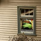 Coal Creek Historical Village....stained window by Andrew Clinkaberry