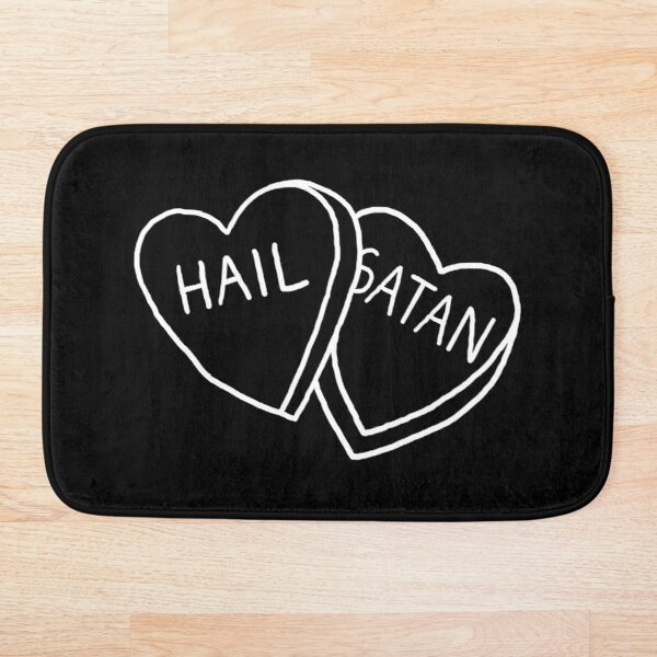 Hail Satan Candy Bath Mat