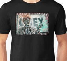 They Live, art, print, john carpenter, 80's, 90's, movie, film, action, sci fi, horror, rowdy, roddy piper, alien, green, face, politician, obey, joe badon Unisex T-Shirt