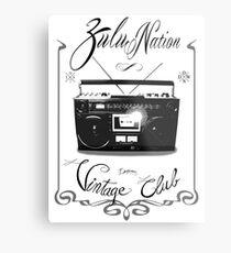 Zulu nation - Ghettoblaster - Vintage club Metal Print