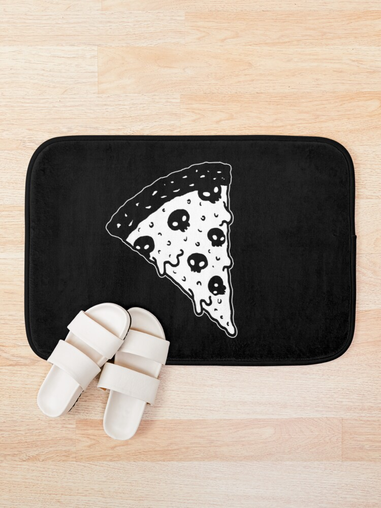 Alternate view of Death by Pizza Bath Mat