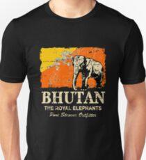 Bhutan Elephant Flag - Vintage Look T-Shirt