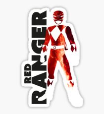 MMPR Red Ranger Print Sticker