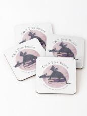 I'm A Book Dragon Coasters