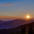 Blauer Ridge-Sonnenuntergang von Bill Wetmore