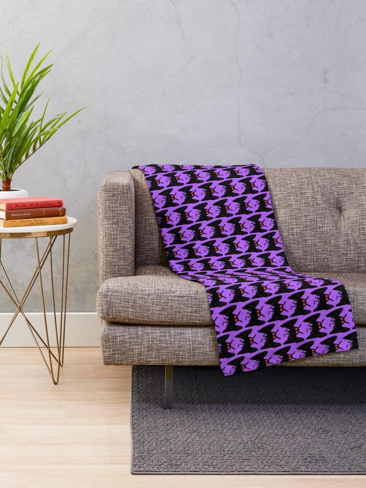 Alternate view of mothman Throw Blanket
