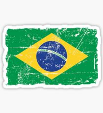 Brazil Flag - Vintage Look Sticker