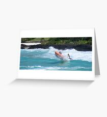 surf lifesavers in action  Greeting Card