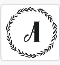 Monogram Wreath - A Sticker
