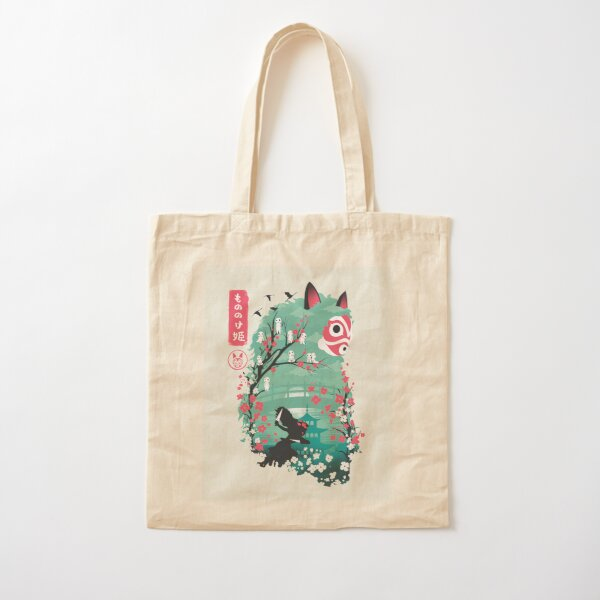 Ukiyo e Princess Cotton Tote Bag