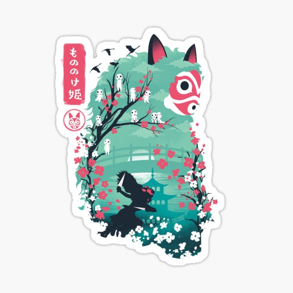 Ukiyo e Princess Sticker