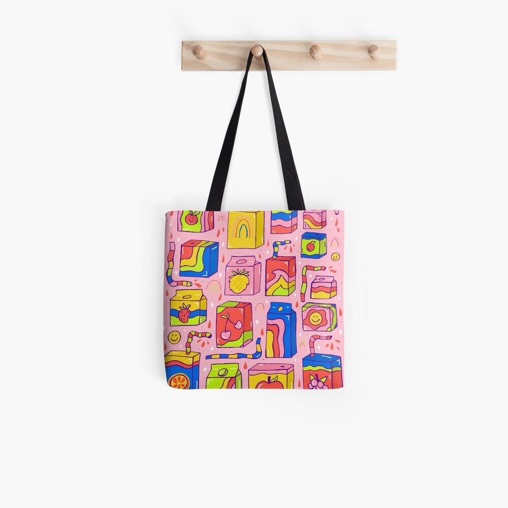 Juice Box Print Tote Bag