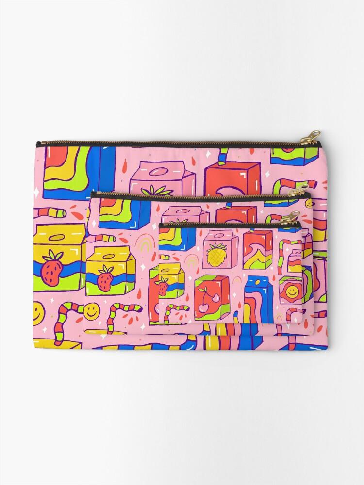 Alternate view of Juice Box Print Zipper Pouch
