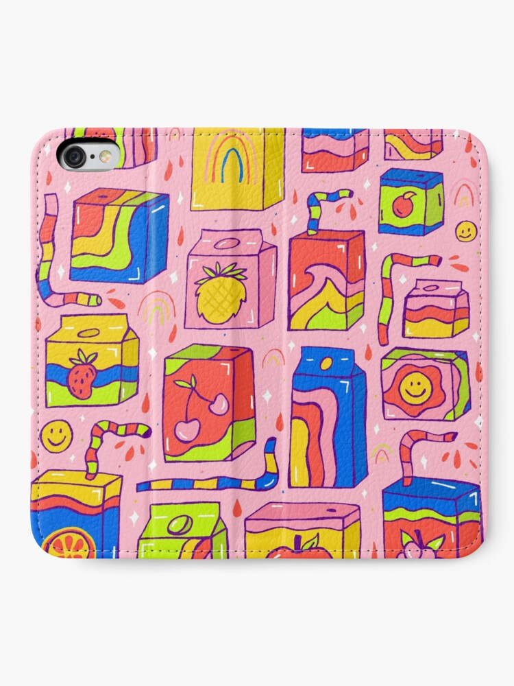 Alternate view of Juice Box Print iPhone Wallet