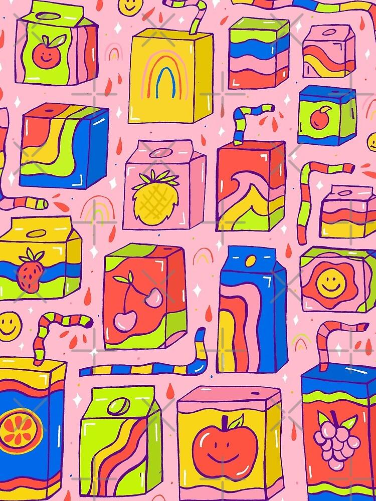 Juice Box Print by doodlebymeg