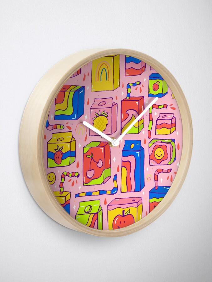 Alternate view of Juice Box Print Clock