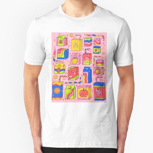Juice Box Print Slim Fit T-Shirt