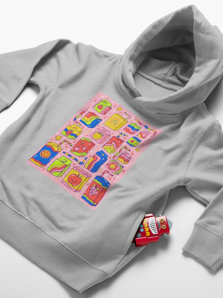 Alternate view of Juice Box Print Toddler Pullover Hoodie