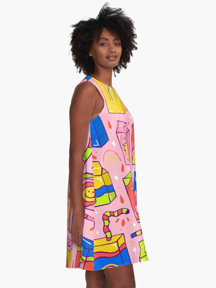 Alternate view of Juice Box Print A-Line Dress