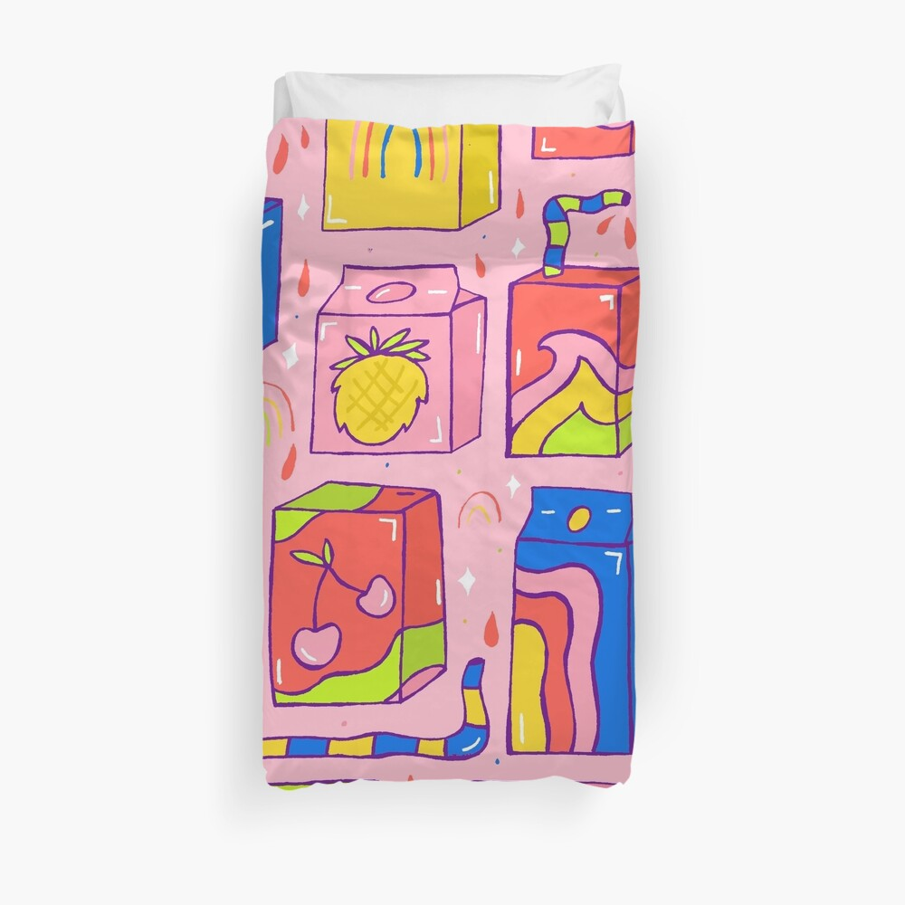 Juice Box Print Duvet Cover