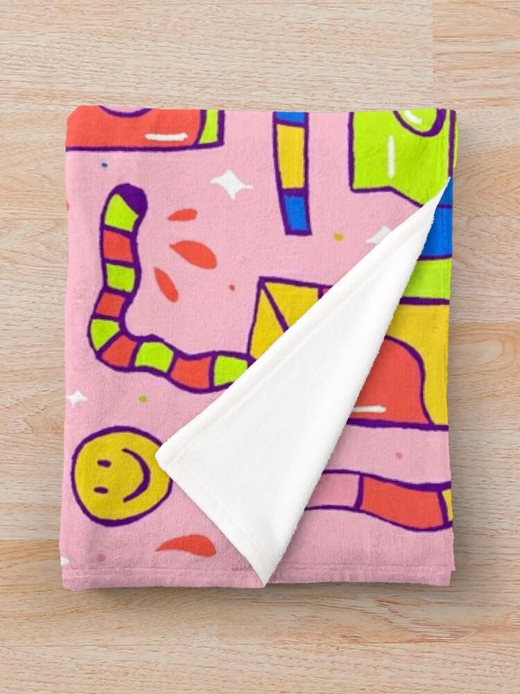 Alternate view of Juice Box Print Throw Blanket