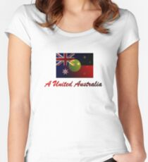 A United Australia T-Shirt Women's Fitted Scoop T-Shirt