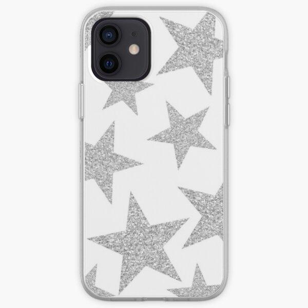 silver stars iPhone Soft Case