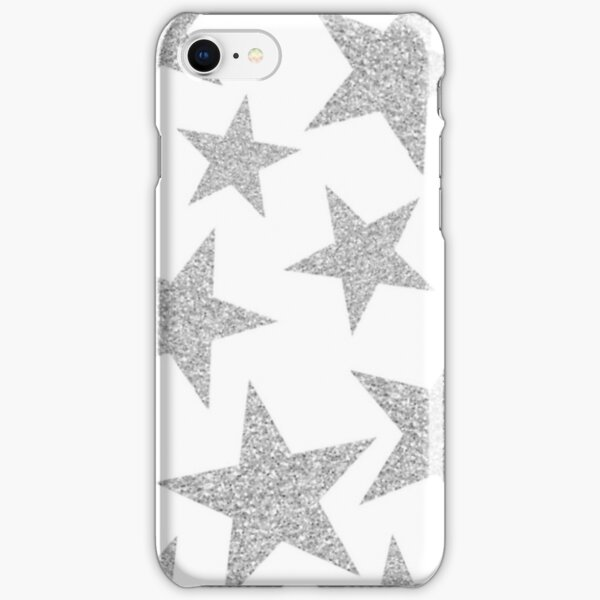 silver stars iPhone Snap Case