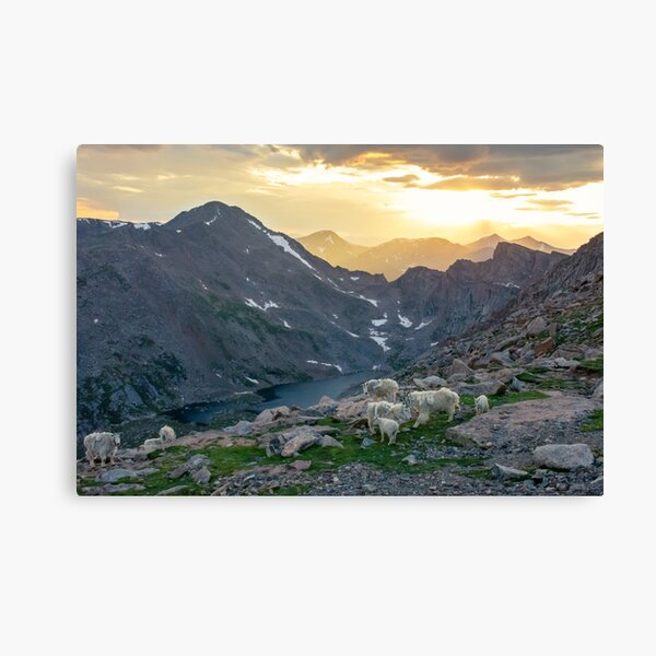 Evening view in the mountains Canvas Print