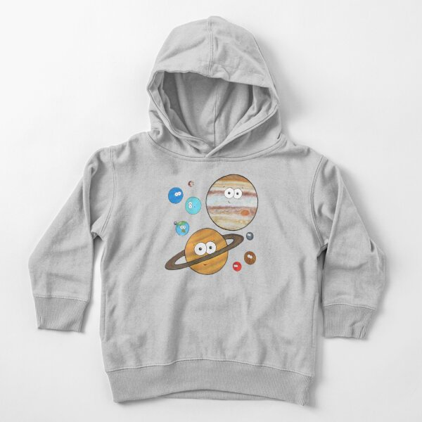 Cute Planets  Toddler Pullover Hoodie