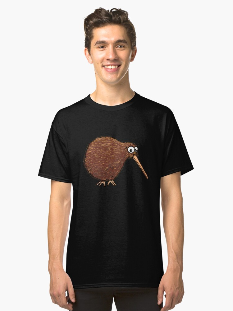 Alternate view of Cutest Kiwi - On Black Classic T-Shirt