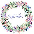 September Planner Sticker by ArtByMichelleT
