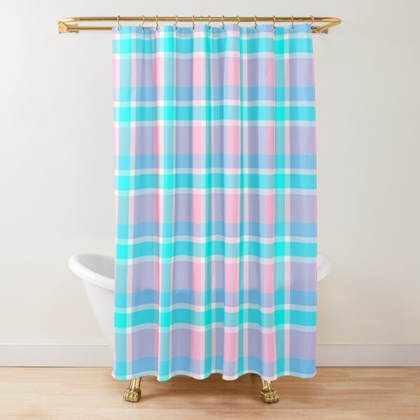 Lucy Dog's Plaid (2019) Shower Curtain