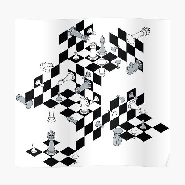 MC Escher contre Marcel Duchamp Poster