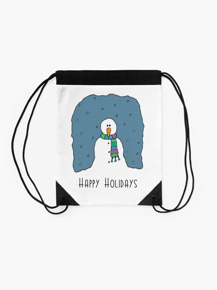 Alternative Ansicht von Happy Holidays Turnbeutel