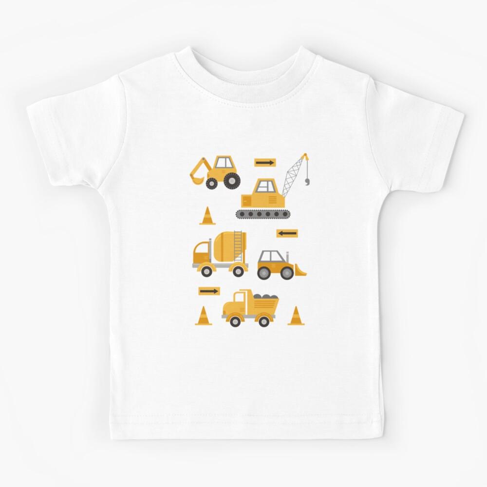 Construction Trucks  Kids T-Shirt