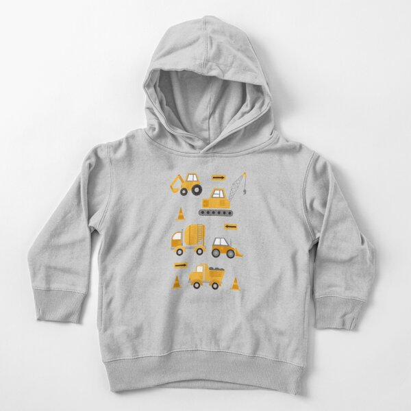 Construction Trucks  Toddler Pullover Hoodie