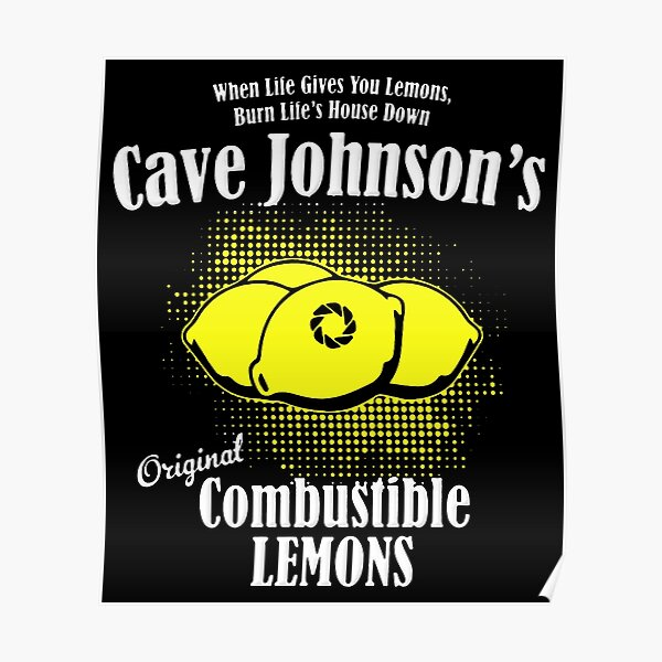 Citron combustible Johnson Cave Poster
