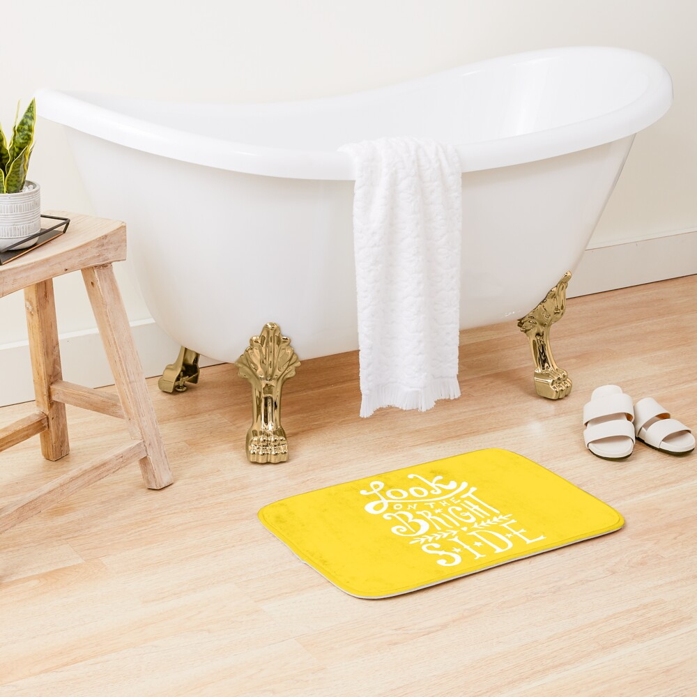 Look On The Bright Side Bath Mat