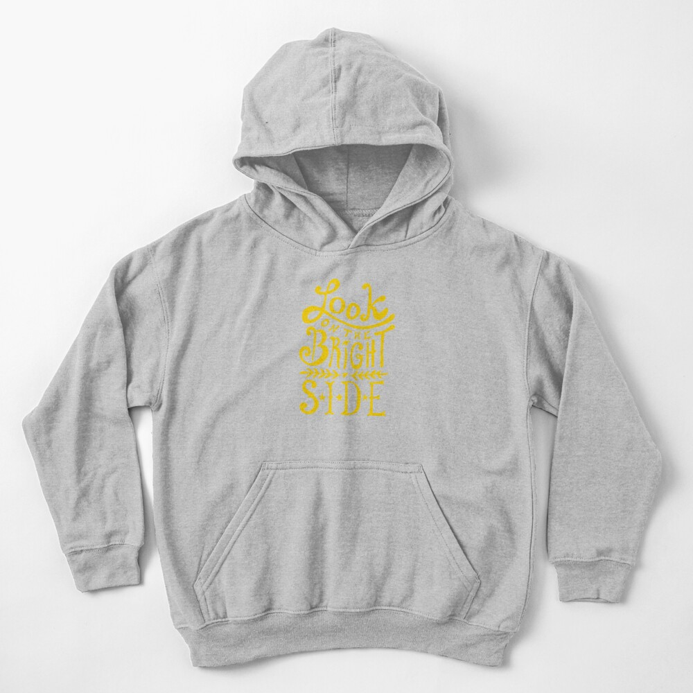 Look On The Bright Side Kids Pullover Hoodie