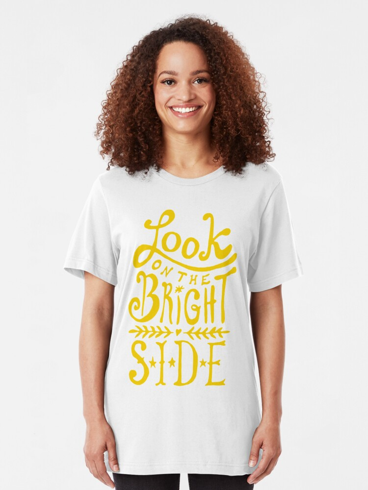 Alternate view of Look On The Bright Side Slim Fit T-Shirt