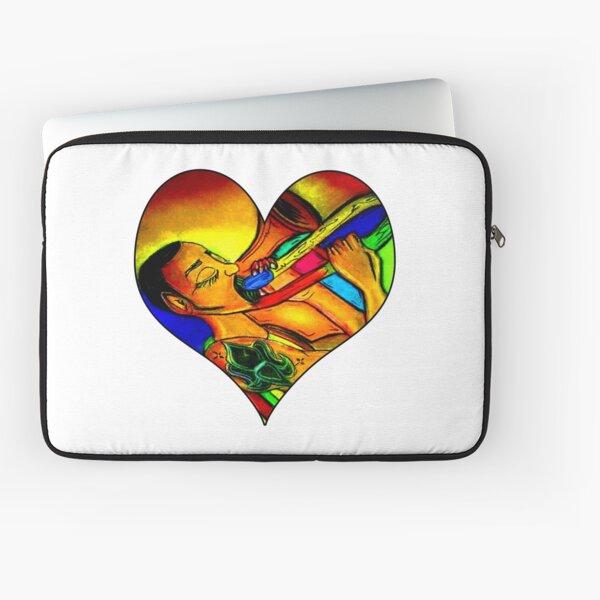 Rainbow trombone Player heart  Laptop Sleeve