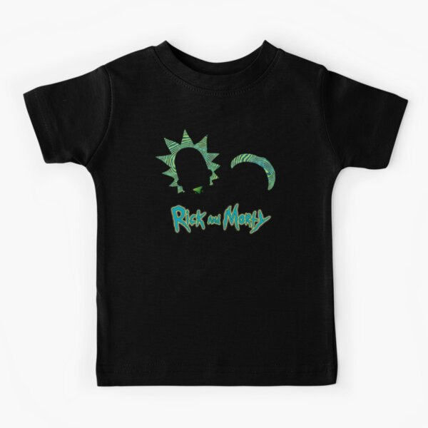 Rick and Morty Portal Style Kids T-Shirt