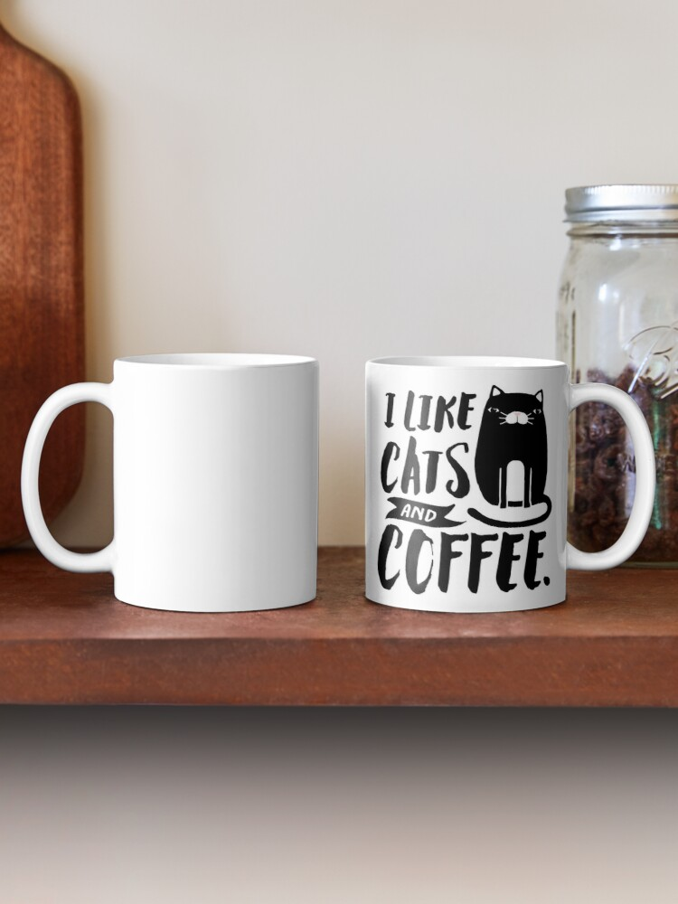 Alternate view of I Like Cats and Coffee Mug