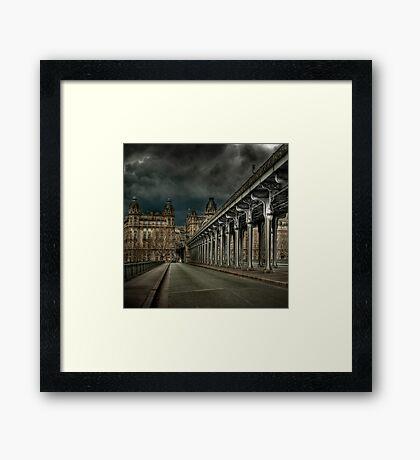 Pont Bir Hakeim, Paris Framed Print