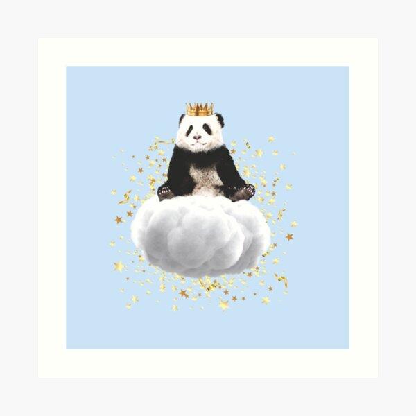 Panda cloud with the stars Art Print