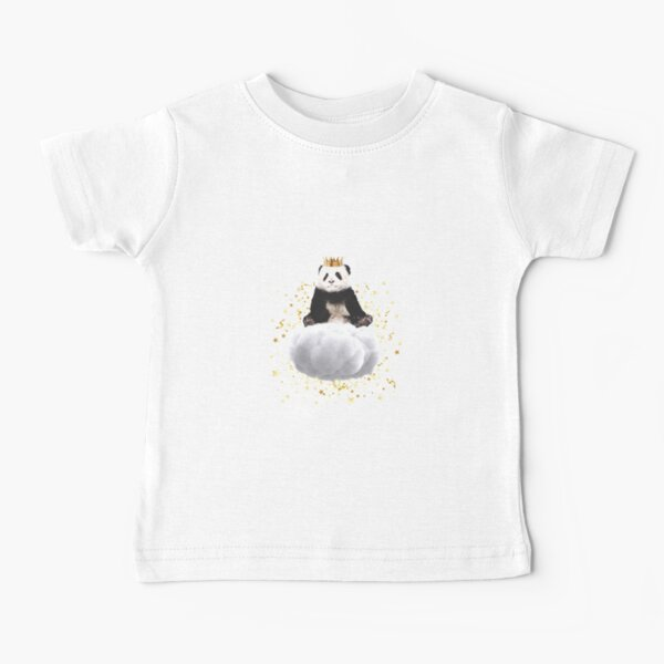 Panda cloud with the stars Baby T-Shirt