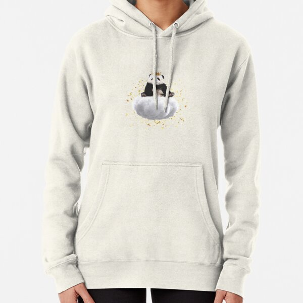 Panda cloud with the stars Pullover Hoodie